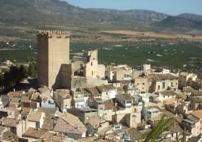 Zona centro de Moratalla y el casco urbano