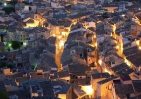 Zona del casco urbano de noche