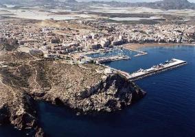 Puerto de Mazarrón desde el aire