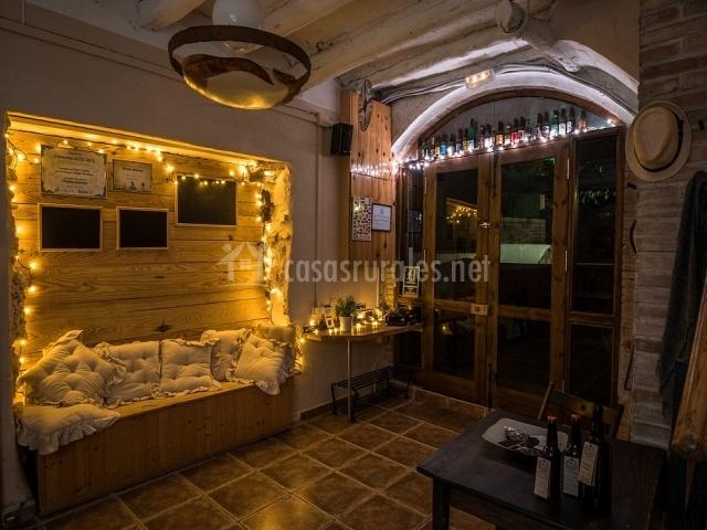 Sala de estar iluminada