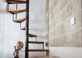 Detalle de las escaleras de caracol