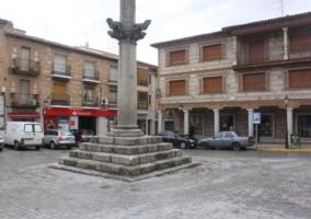 Zona centro con la plaza en la que nos encontramos