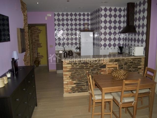 Vista general del salón - cocina