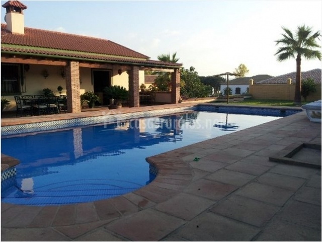 Las palmeras en setenil de las bodegas c diz for Casa rural para cuatro personas con piscina
