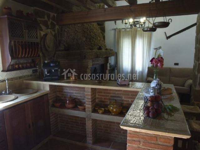 Cocina en su interior en formato americano