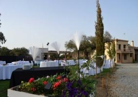 Jardín decorado para evento