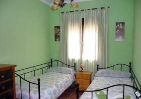 Habitación doble verde
