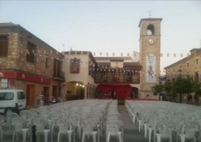 Plaza Mayor en fiestas