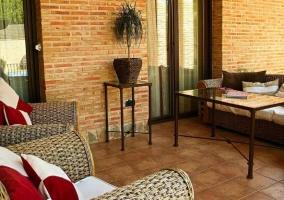 Vistas del porche con buenas vistas y mobiliario