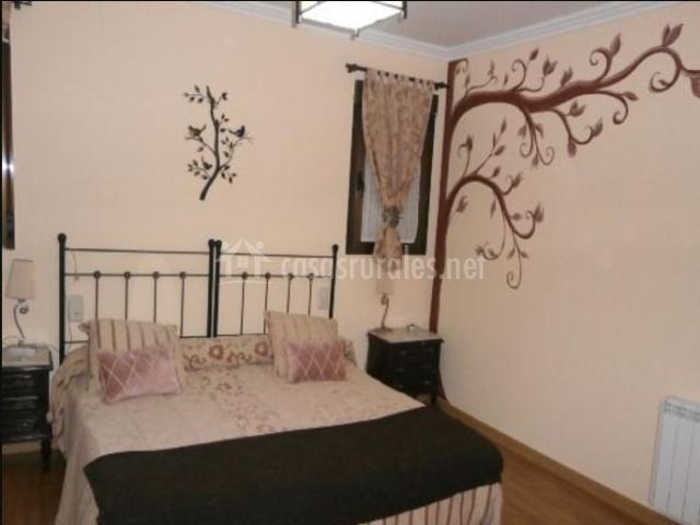 Dormitorio de matrimonio con vinilo