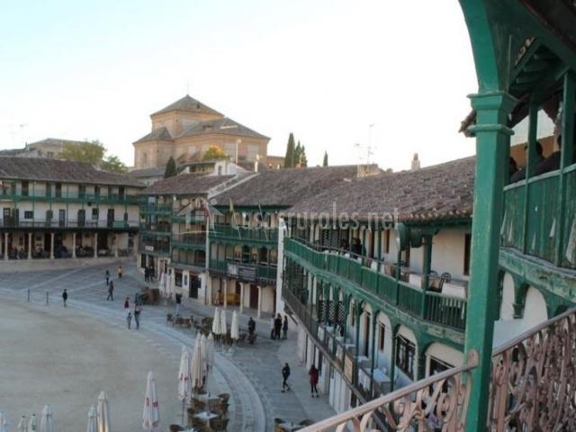 Vistas de la plaza desde la terraza