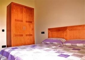 Dormitoro doble de la casa rural