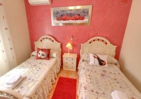 Habitación doble en rojo
