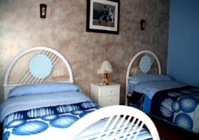 Decoración de la habitación azul