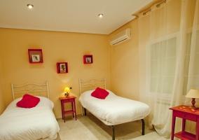 Habitación doble camas individuales separadas