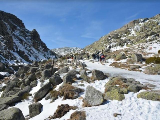 Zona de paisajes nevados