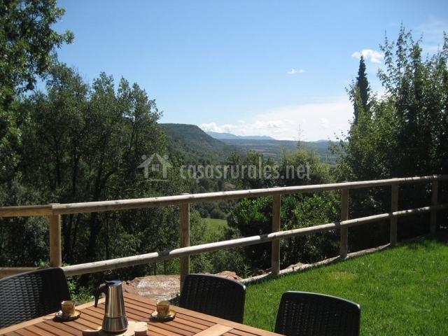 Terraza con unas vistas muy bonitas