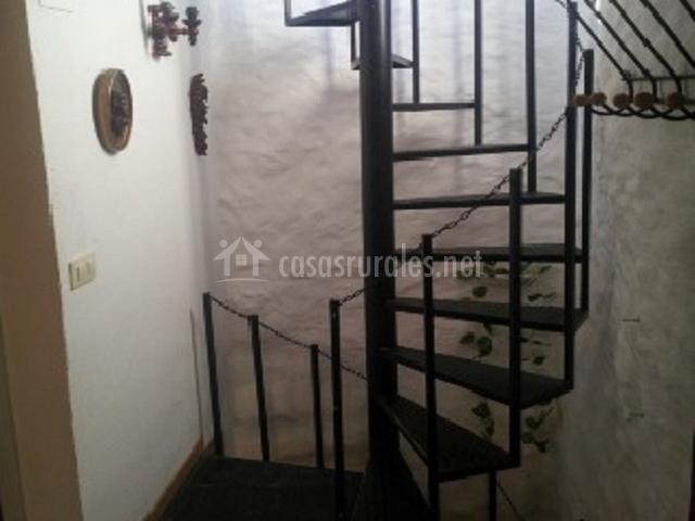 Escaleras de caracol de la casa