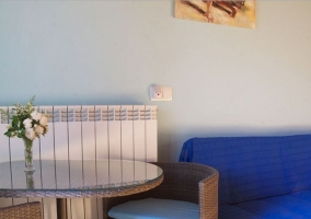 Zona de relax de la habitación azul