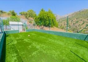 Vistas de la pista de fútbol