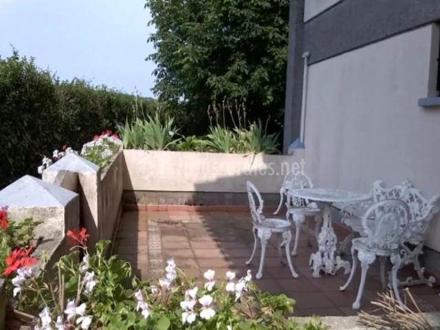 Vistas de la terraza con plantas