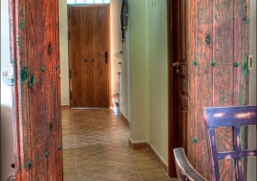 Sala de estar y vistas de los pasillos