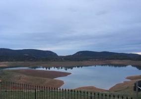 Vistas desde la terraza de las zonas naturales